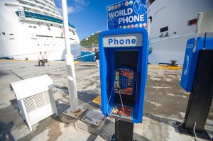 Phone On A Cruise Terminal - Cell Phones on Cruise Ship