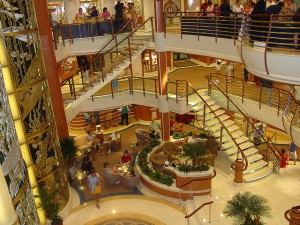 Caribbean Princess Cruise Ship - Atrium