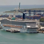 Carnival Valor Docked at Miami Cruise Terminal - Port of Miami