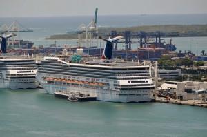 Carnival Valor Docked at Miami Cruise Terminal - Port of Miami