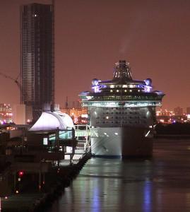 Miami Cruise Terminal At Night
