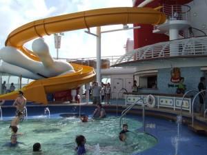 Pool Slide at the Mickeys Pool - Disney Magic