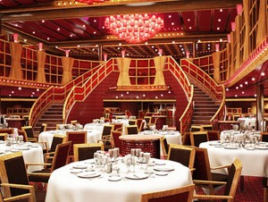 One of the Main Dining Rooms On Board Carnival Dream Cruise Ship